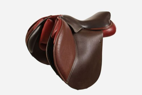 17 Inch Edge Jumping Saddle With Edge Jumping Moveable Block Flaps